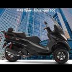 Vehicles Piaggio, 2021 MP3-500 HPE Sport Advanced Black