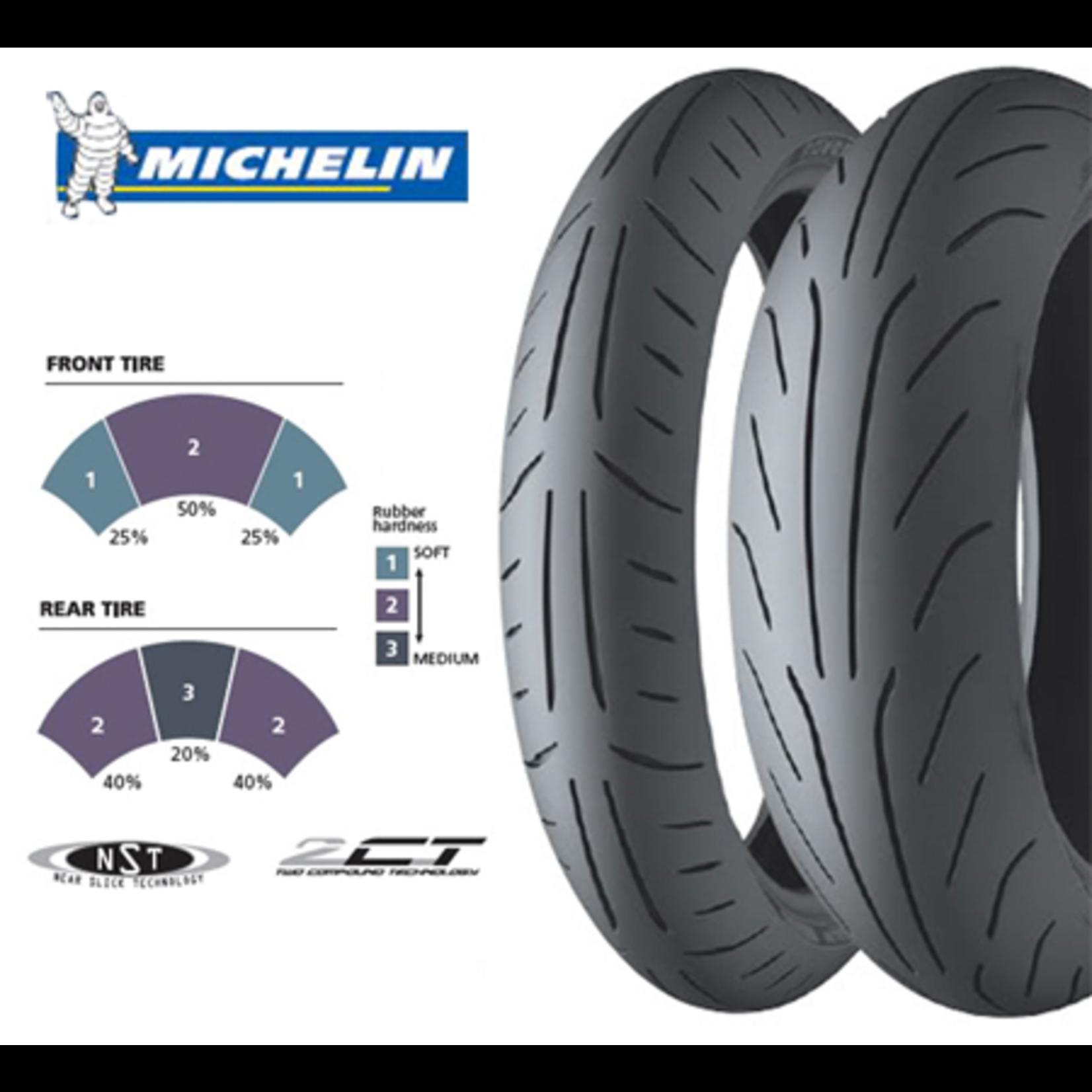 "Parts Tire, 120/70-12"" Michelin Power Dual Compound"