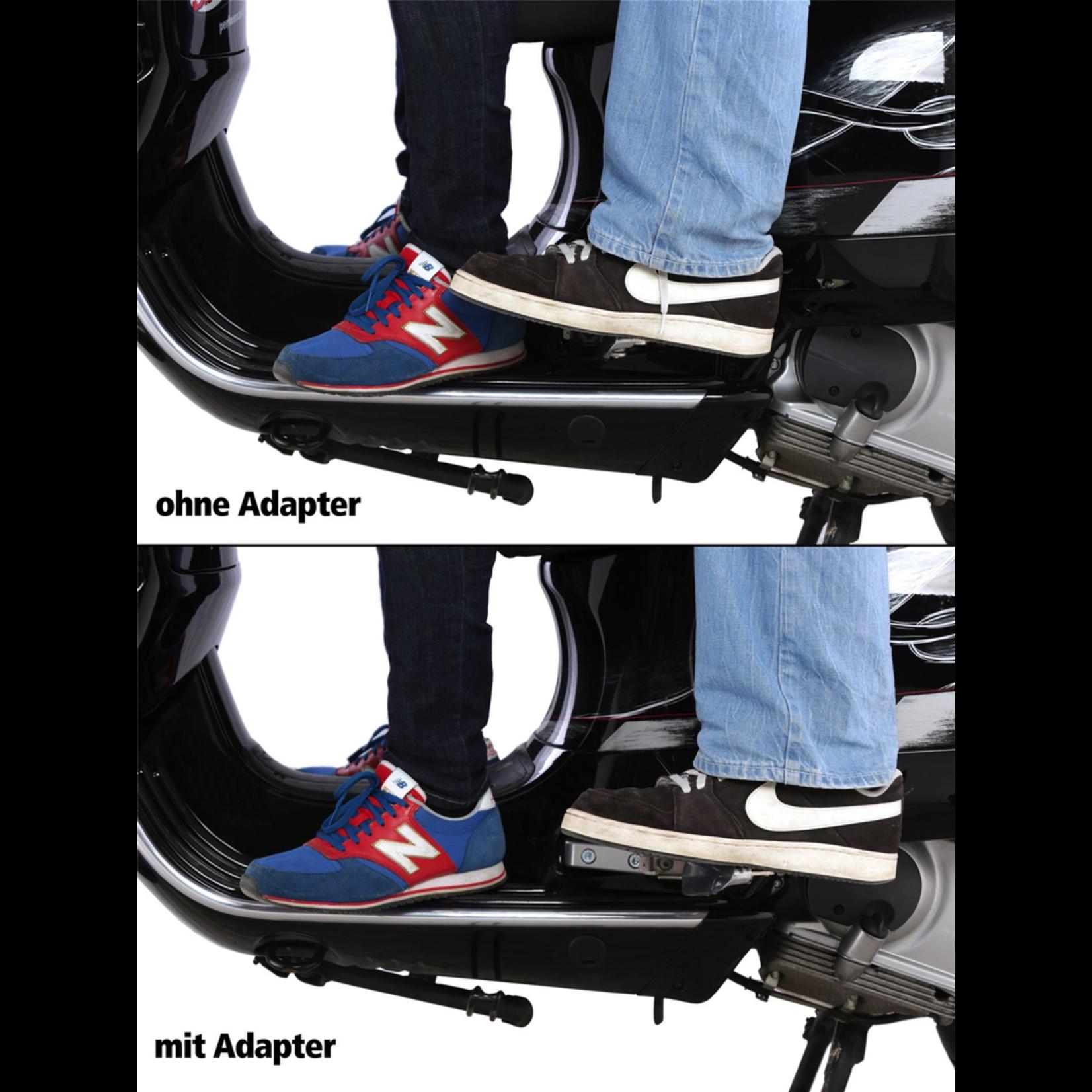 Accessories Foot Peg Extender, Vespa GT/GTS GTV Black finish