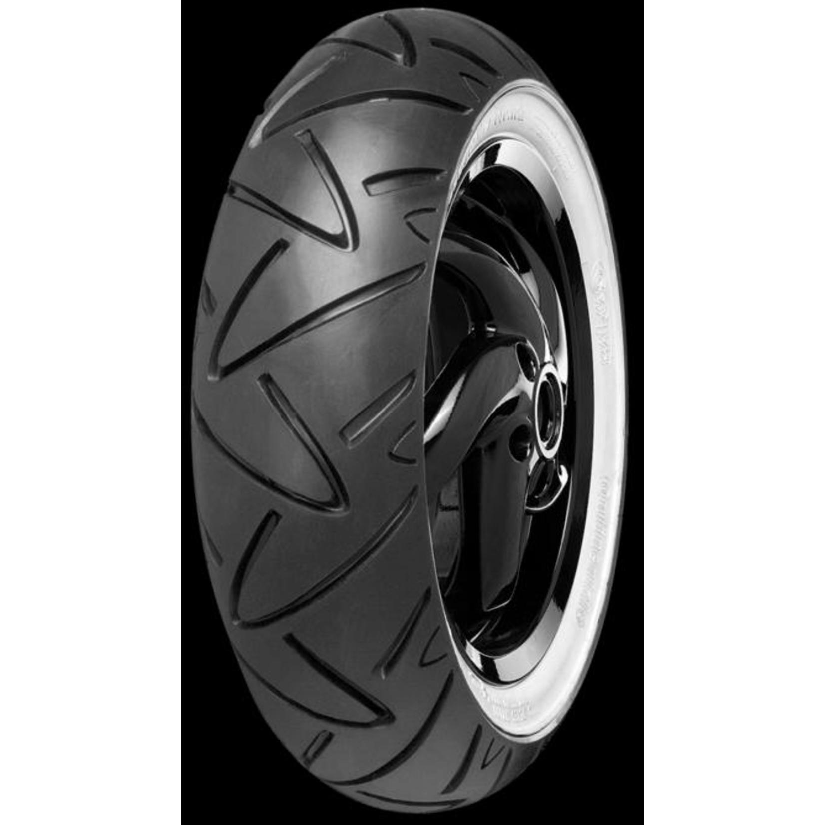 Parts Tire, 120/70-12 Continental Twist Front 58P White Wall