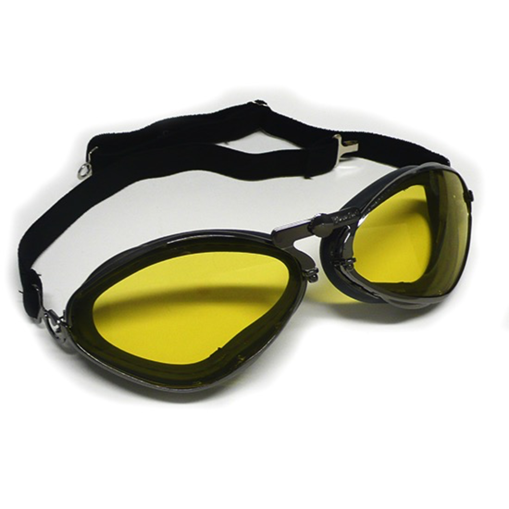 Apparel Goggles, Aviator Gun Metal Black Leather (France)