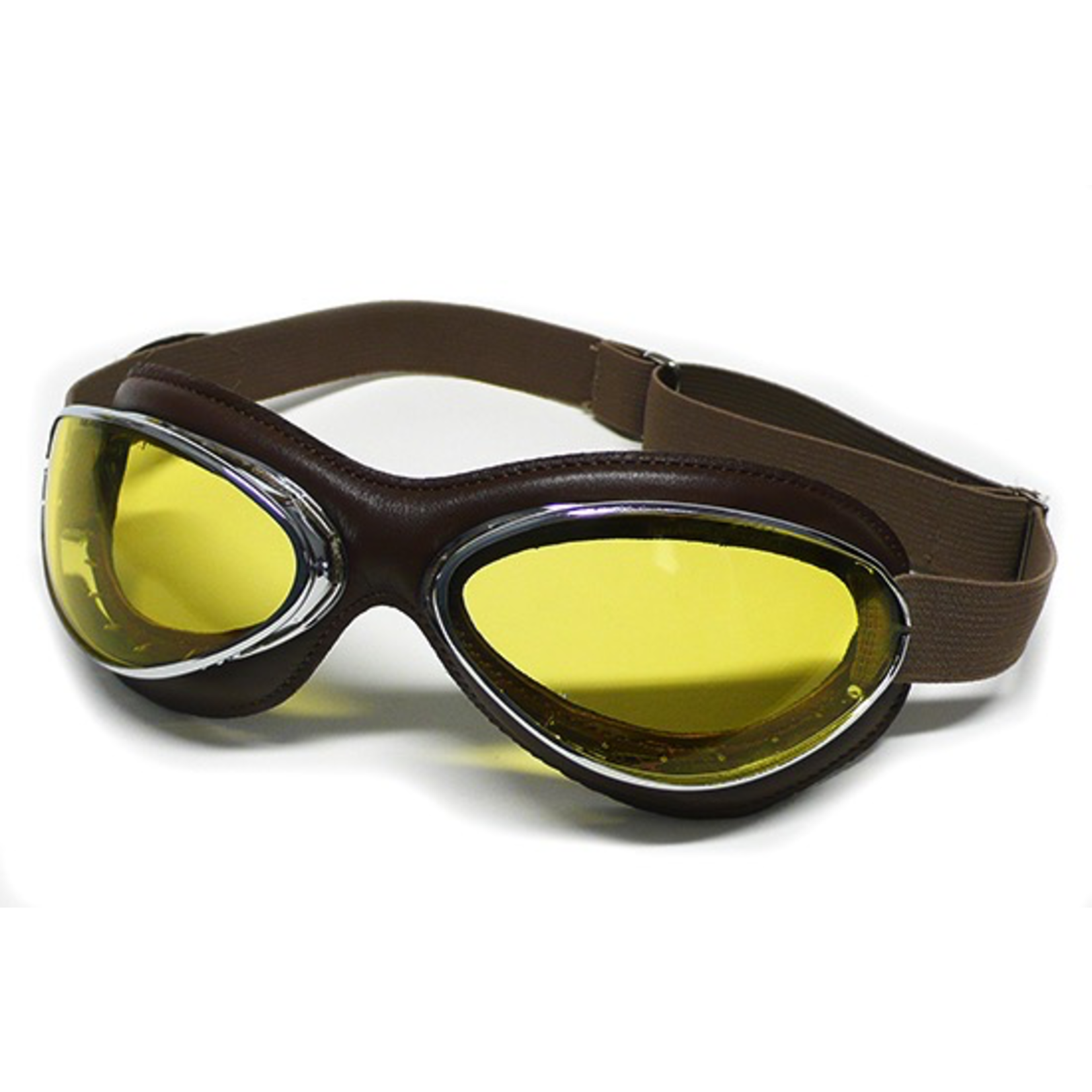 Apparel Goggles, Aviator Chrome Brown Leather (France)