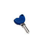 Parts Key Blank, Vespa Blue (With Immobilizer Chip)