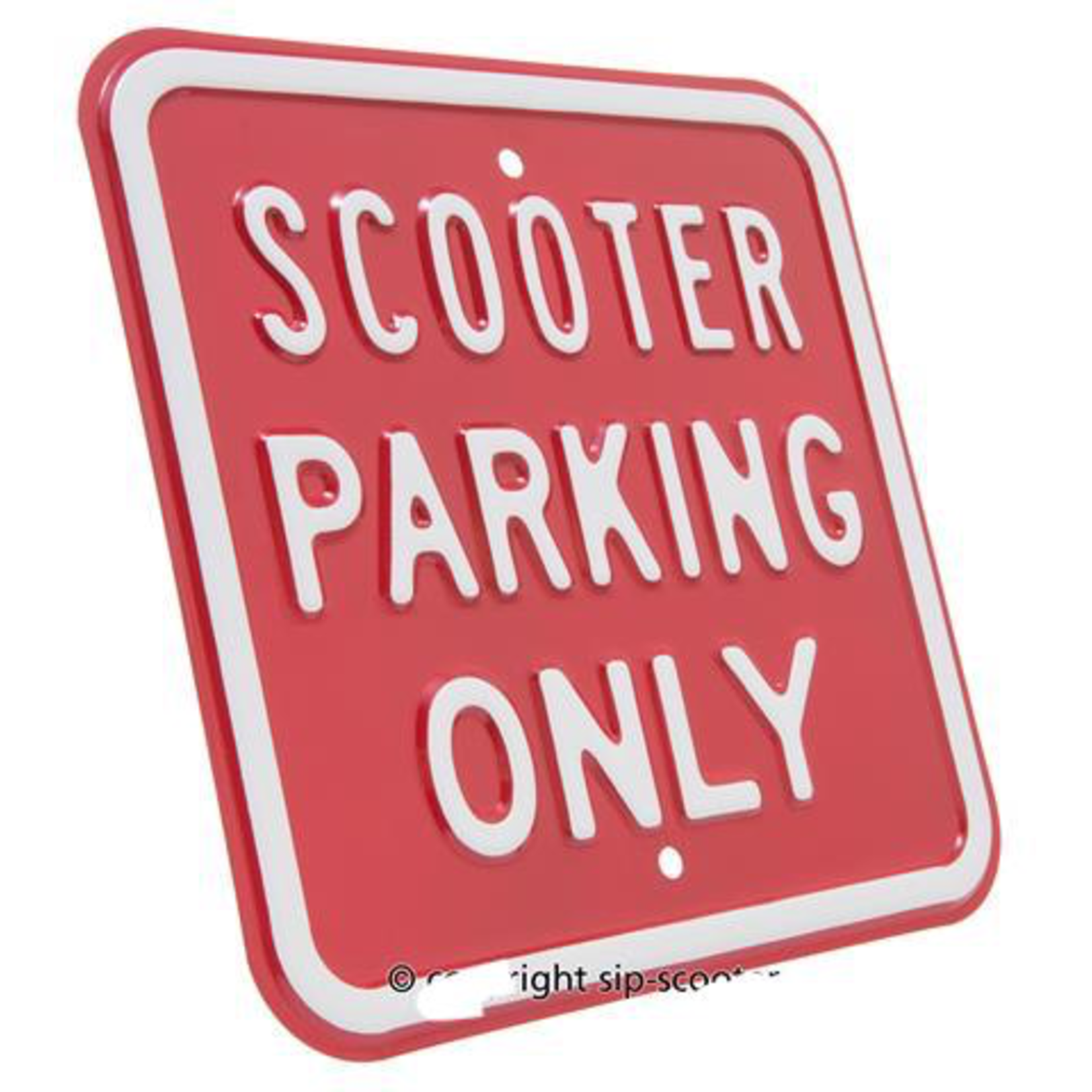 Lifestyle Sign, Scooter Parking Only
