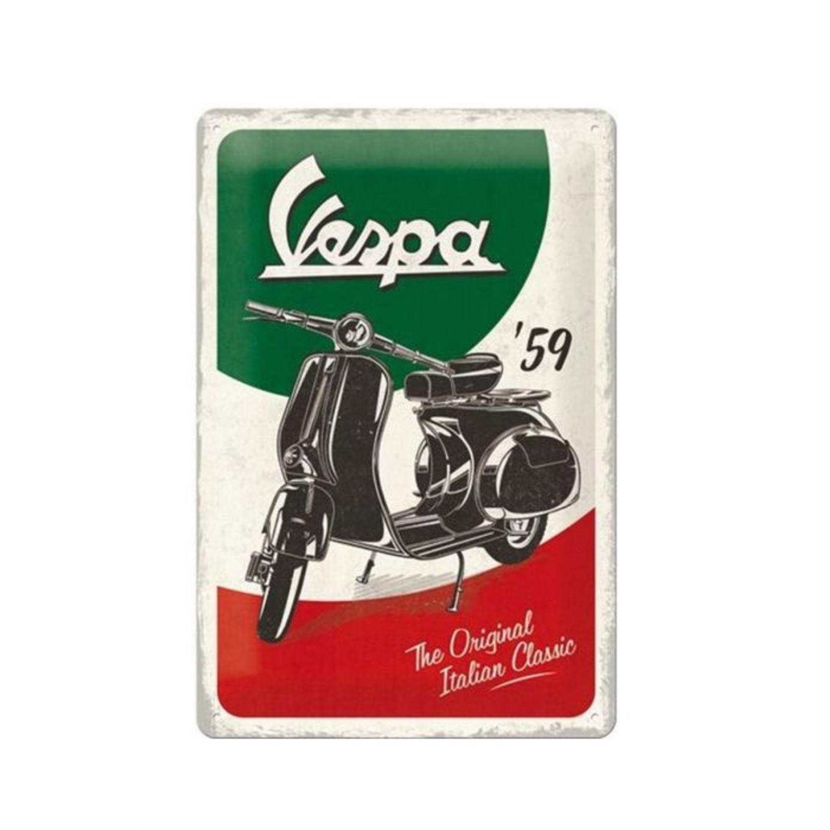 Lifestyle Sign, Metal Vespa The Italian Classic 60x40cm