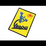 Lifestyle Sign, Metal Vespa Yellow Sun