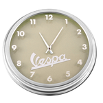 "Lifestyle Wall Clock, Vespa on Beige 15.75"" Dia"