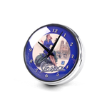 Lifestyle Clock, Alarm Clock w/magnetic back-pedestal 12cm Dia Blue Vespa Red head