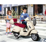 Lifestyle Peg Perego Vespa GT 12 Volt Childrens Scooter White/maroon