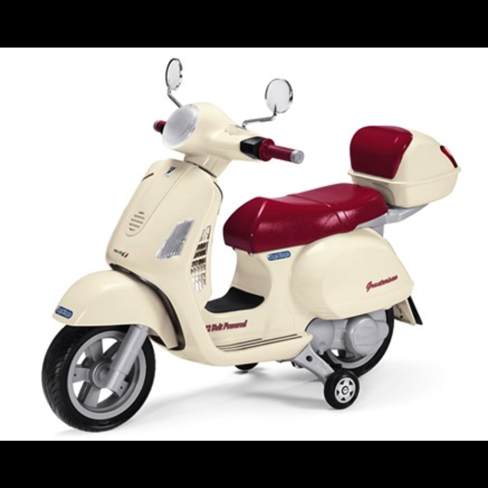 Lifestyle Peg Perego Vespa GT 12 Volt Childrens Scooter White/maroon