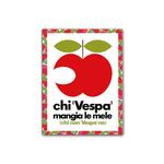 Lifestyle Magnet, Vespa Apple 83mm x 63mm