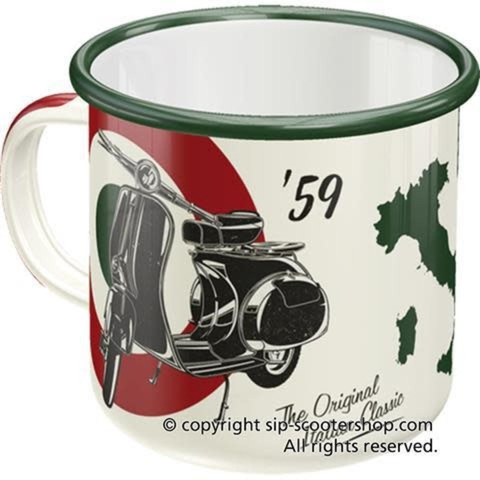 Lifestyle Mug, Vespa Italian Classic Enameled