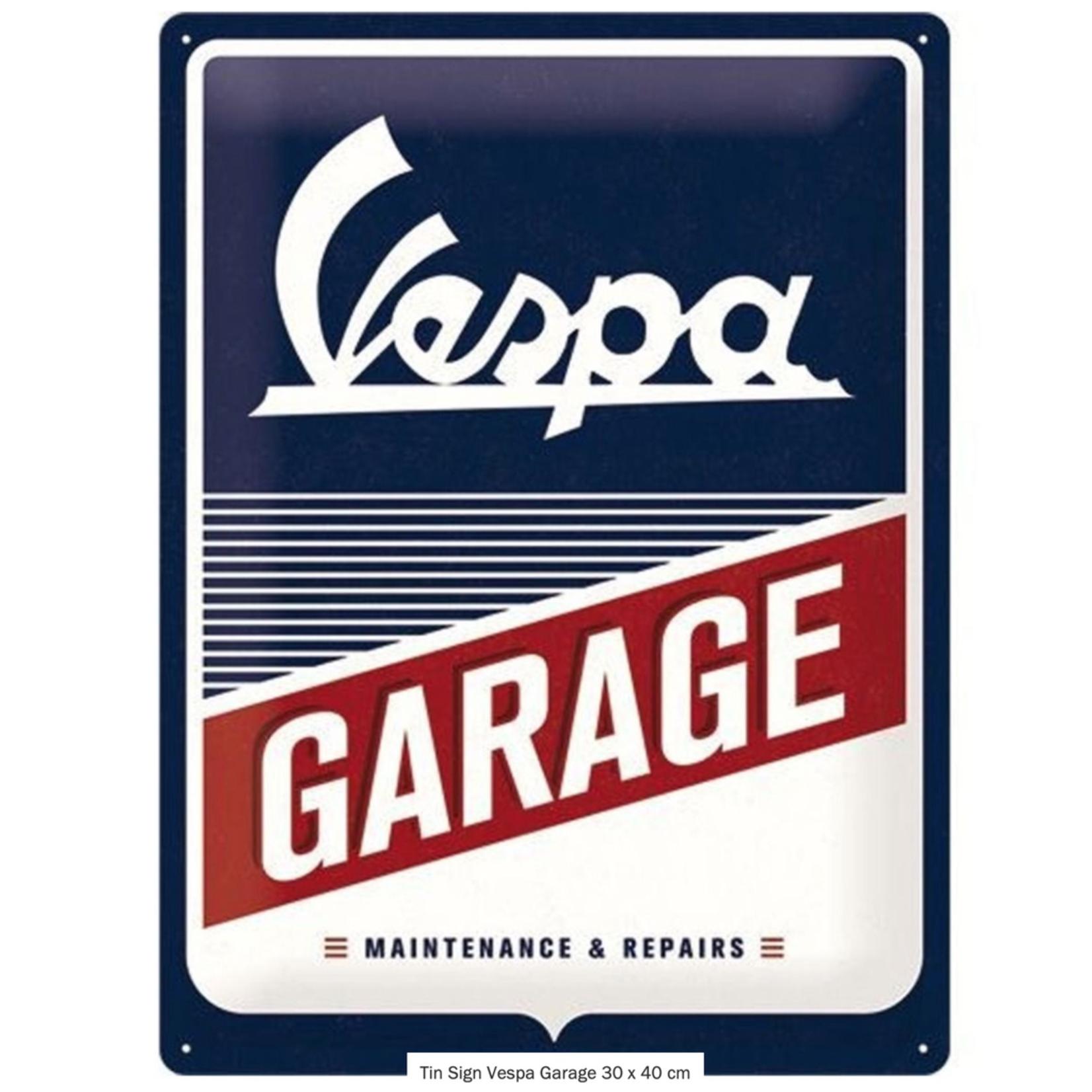 Lifestyle Sign, Vespa Garage 30 x 40 cm