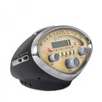 Lifestyle Radio-Alarm Clock-MP3 Player, Vintage Vespa Speedo Black