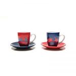 Lifestyle Espresso Cup Set, 2-Piece Vespa Red/Blue