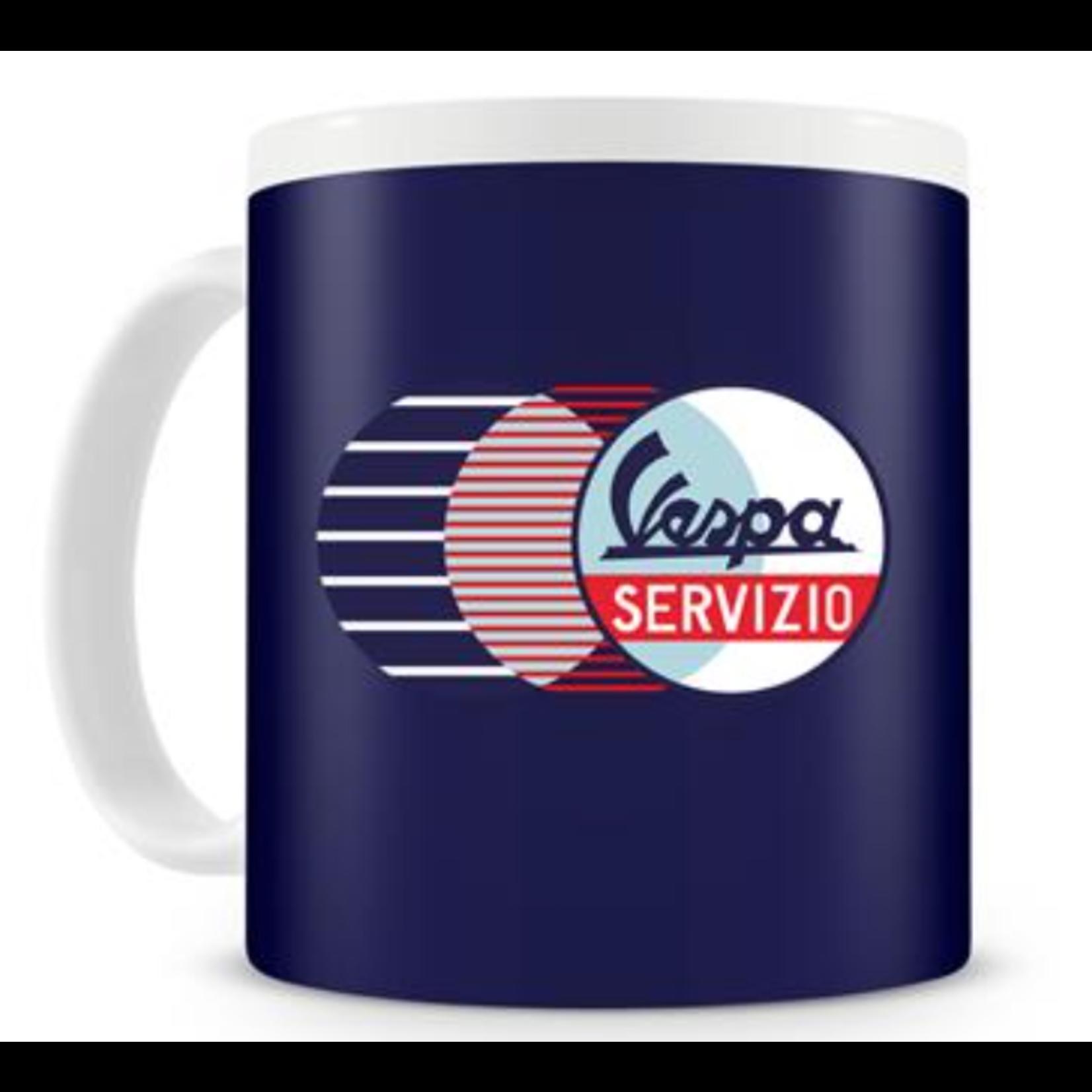 "Lifestyle Mug, ""Vespa Servizio"" Blue Ceramic"