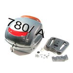 Accessories Top Case, LXV Avio Grey w/Leather Backrest