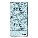 Lifestyle Beach Towel, Vespa Silhouette Blue