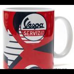"Lifestyle Mug, ""Vespa Servizio"" Red/Blue"