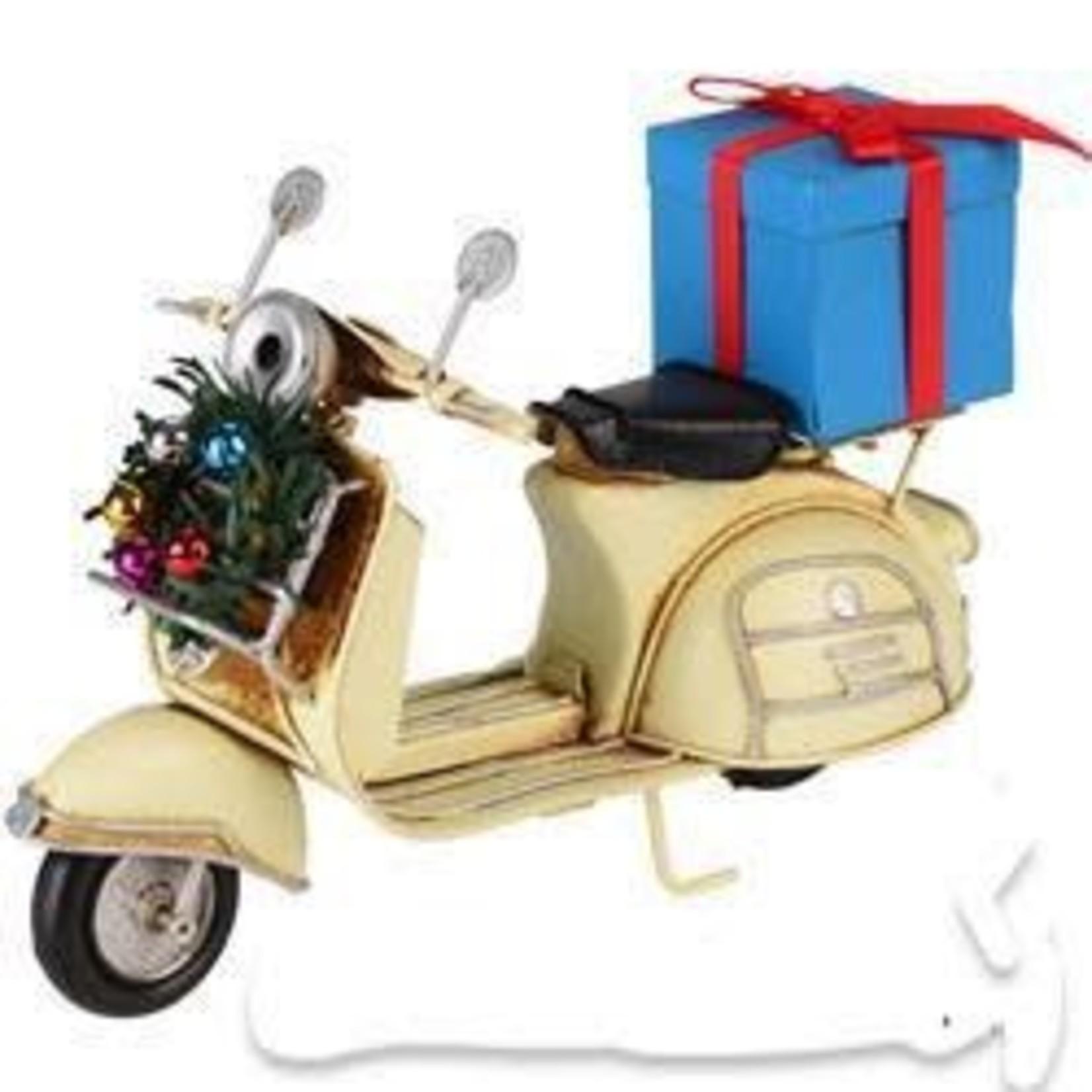 Lifestyle Toy, Vespa Scooter Cream Present/Wreath