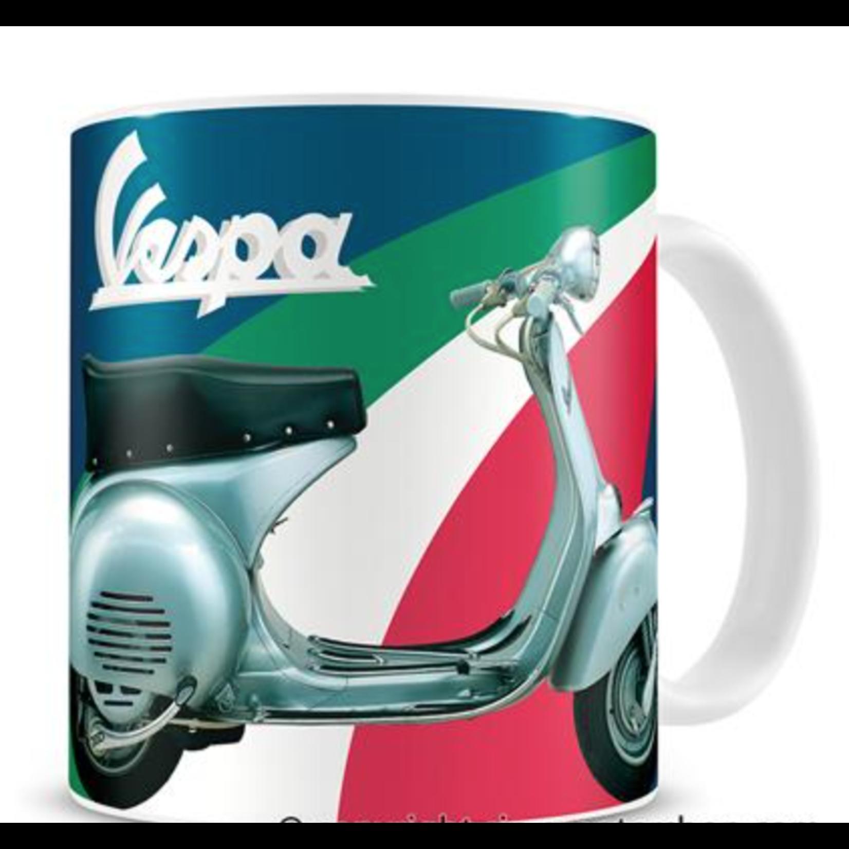 Lifestyle Mug, Blue Vespa Tricolor G/W/R