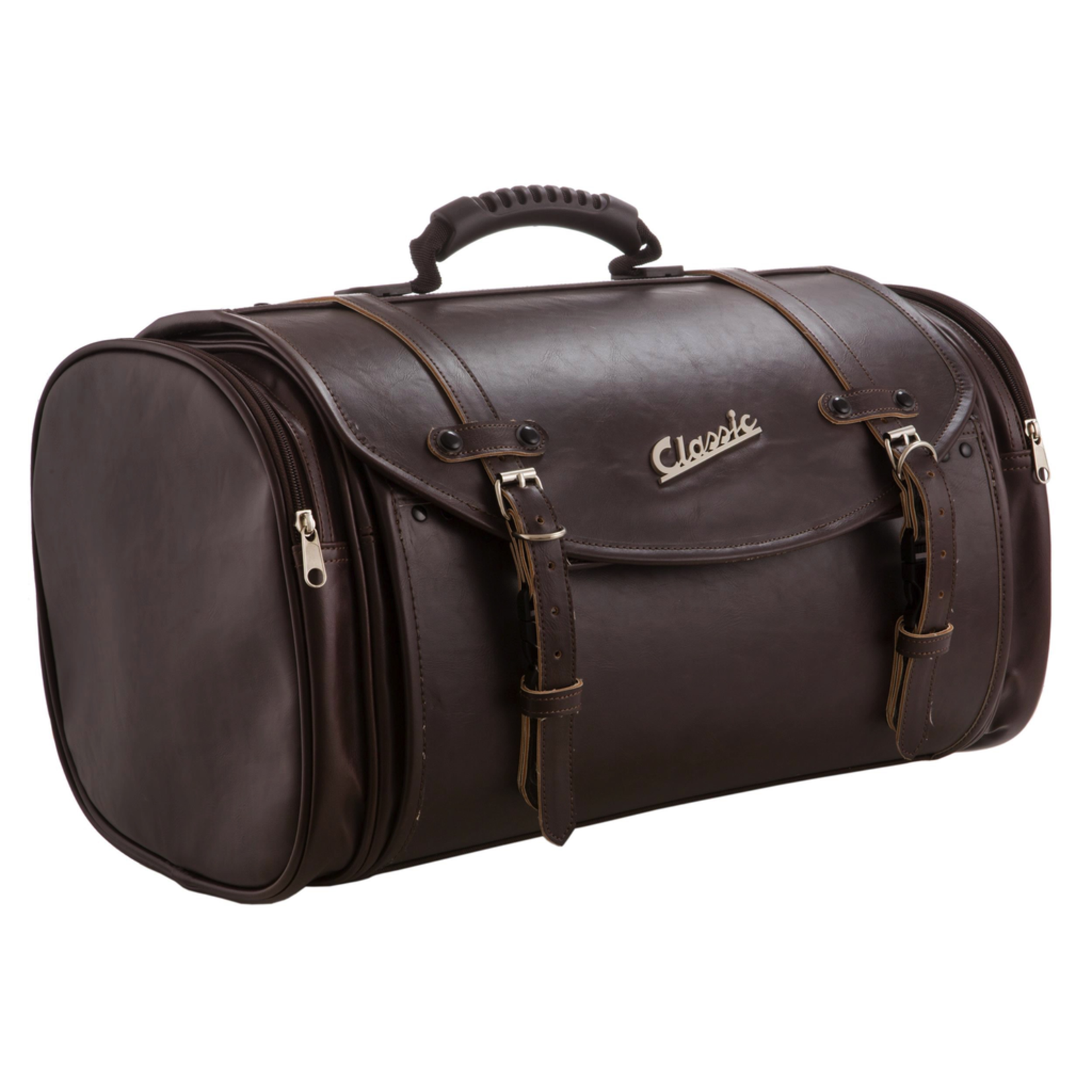 Accessories Top Case Bag, Brown Leather Look 35 ltr Bag