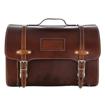 Accessories Top Case, Vespa Leather Bag Dark Brown