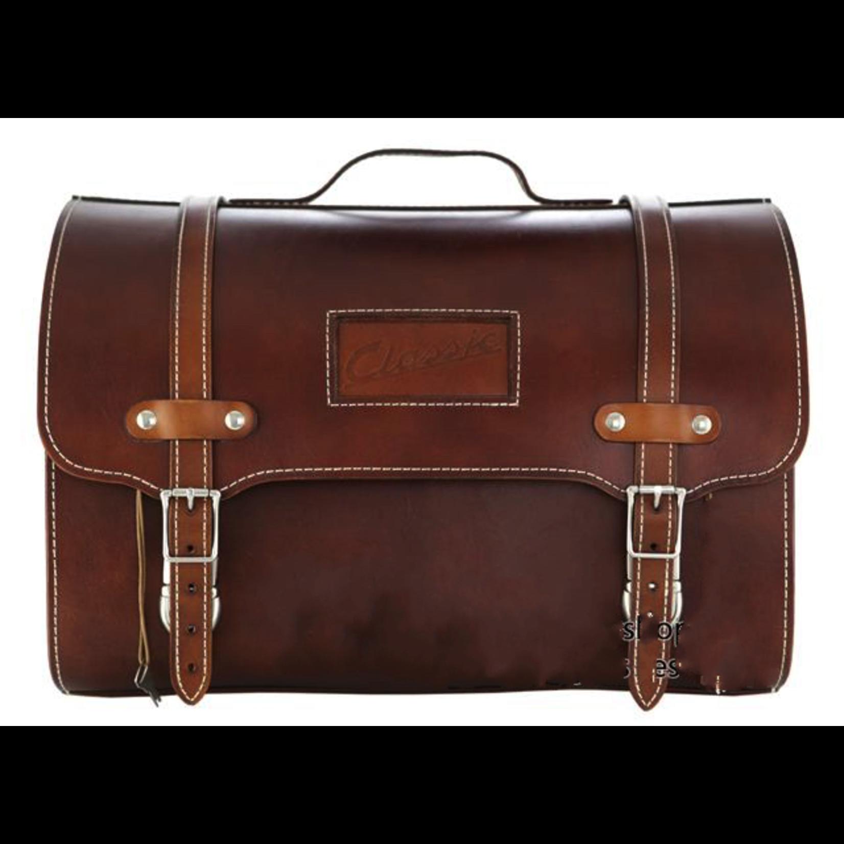 Accessories Top Case, Vespa Leather Bag Dark Brown