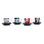 Lifestyle Espresso Cup Set, 4-Piece Vespa Blue/White/Red