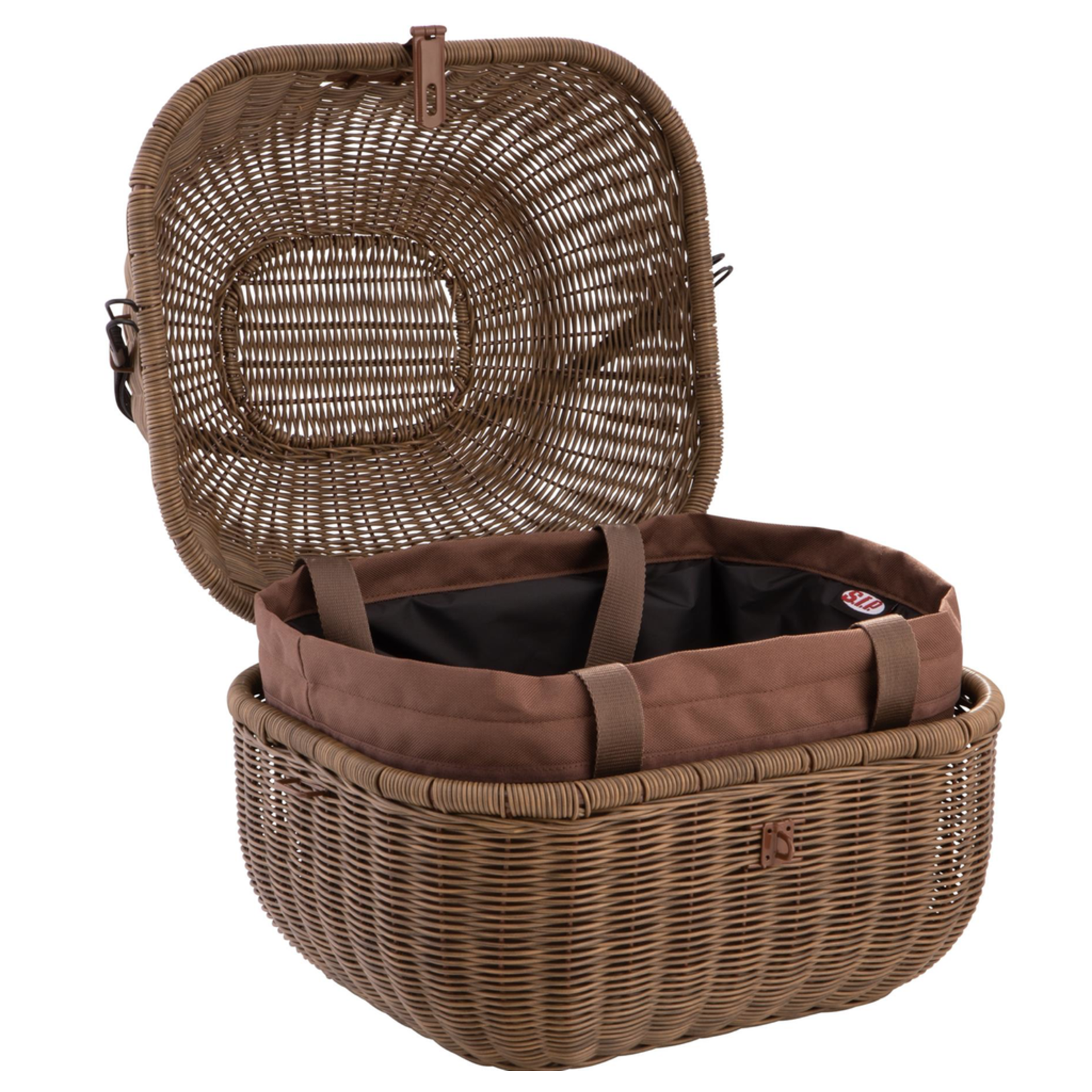 Accessories Top Case Basket, Classic Dark Brown
