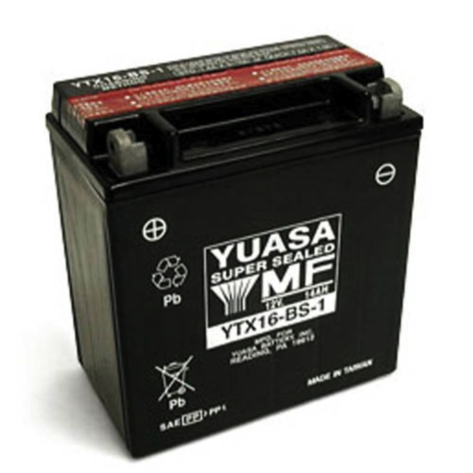 Parts Battery, YTX16-BS (USA) Sealed Maintenance Free