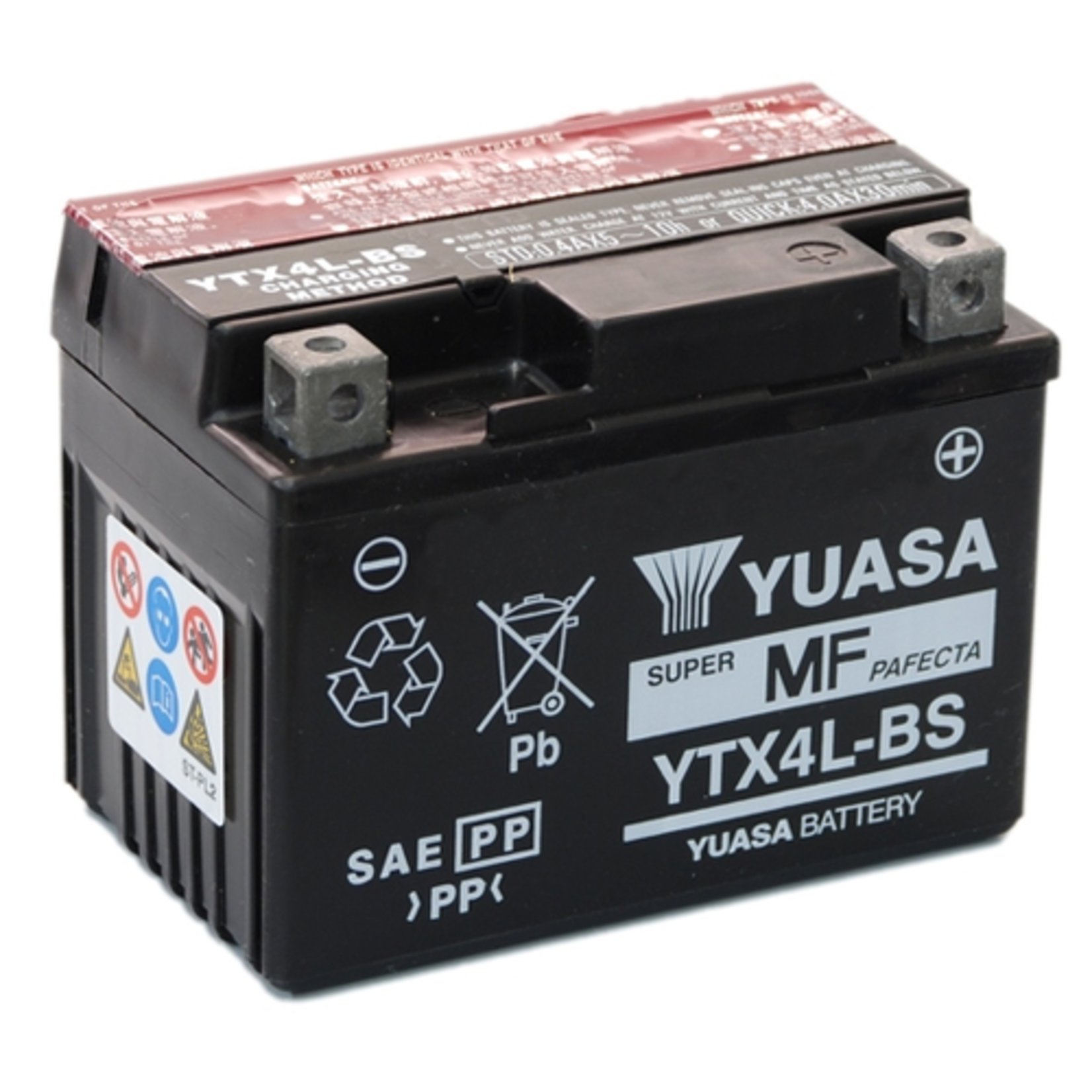 Parts Battery, YTX4L-BS Sealed Maintenance Free