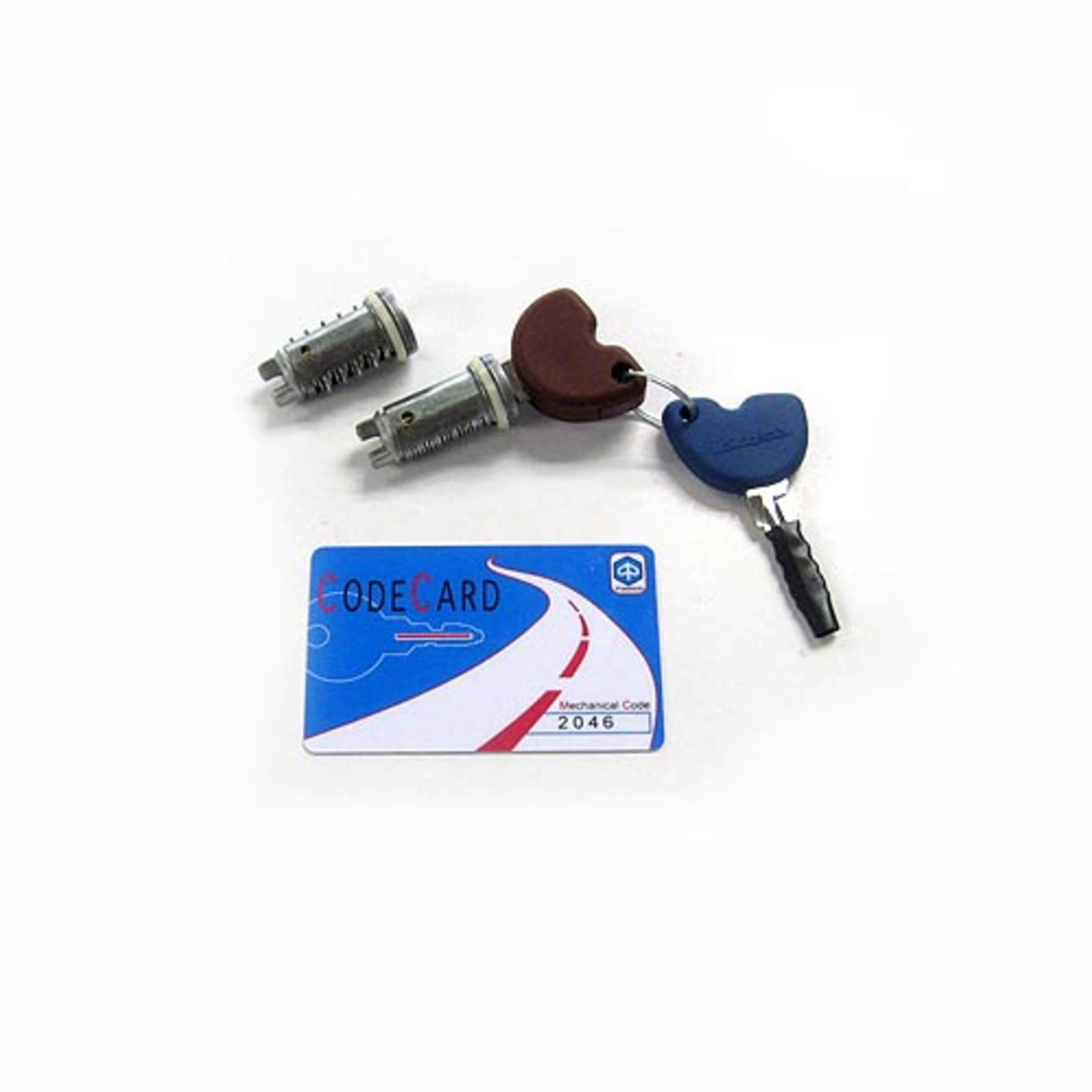 Parts Lock Set, Vespa 150-300 Immobiliser with seat lock