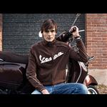 Apparel Sweatshirt, Mens Zip Front Vespa Brown LG