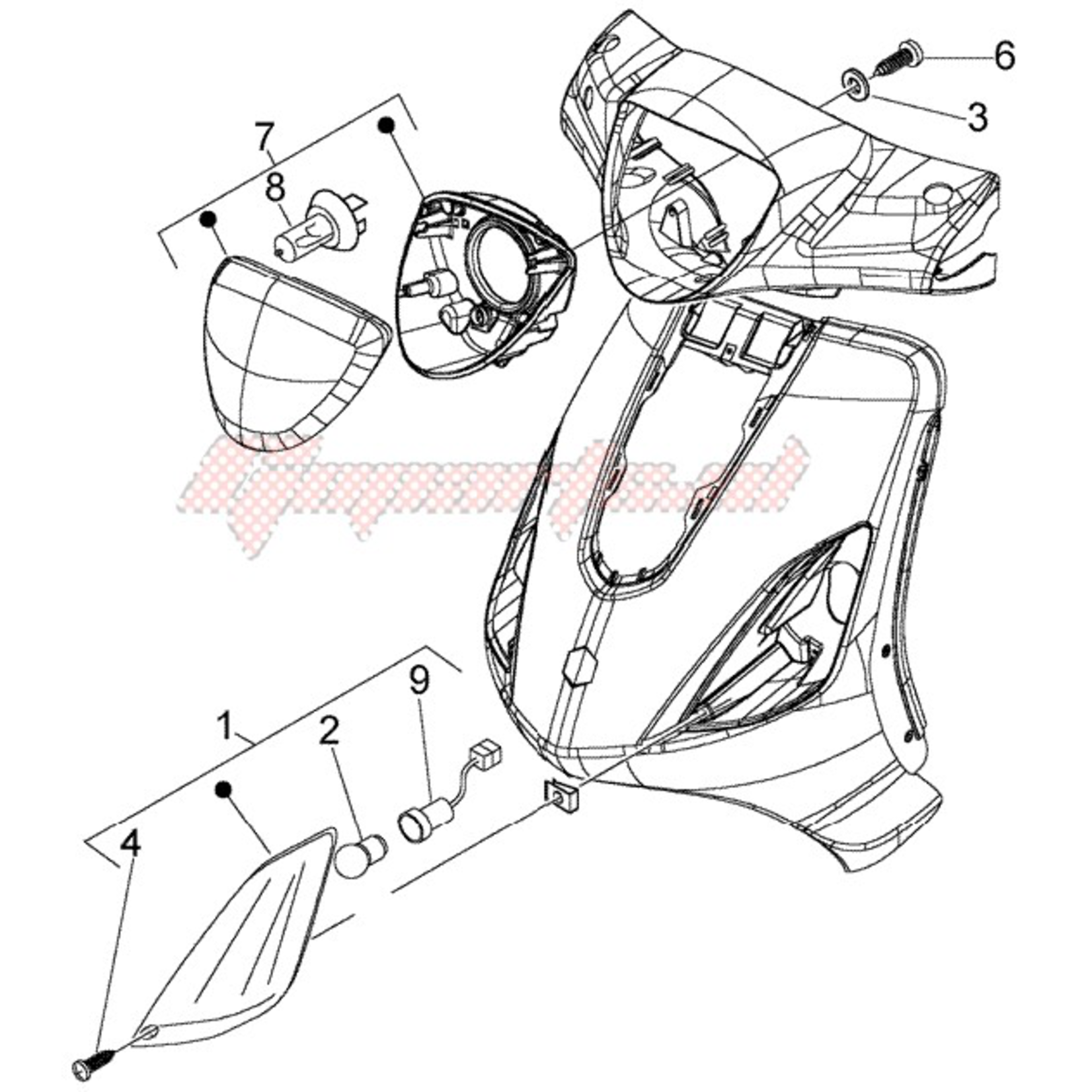 Parts Signal Lamp, RH Front Piaggio Fly (2006-2012)