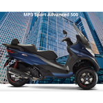 Vehicles Piaggio, MP3-500 HPE Sport Advanced Blue
