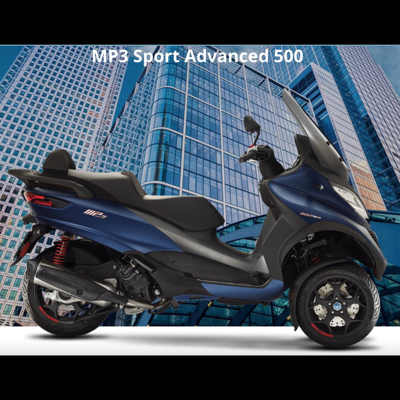 Vehicles Piaggio, 2021 MP3-500 HPE Sport Advanced Blue