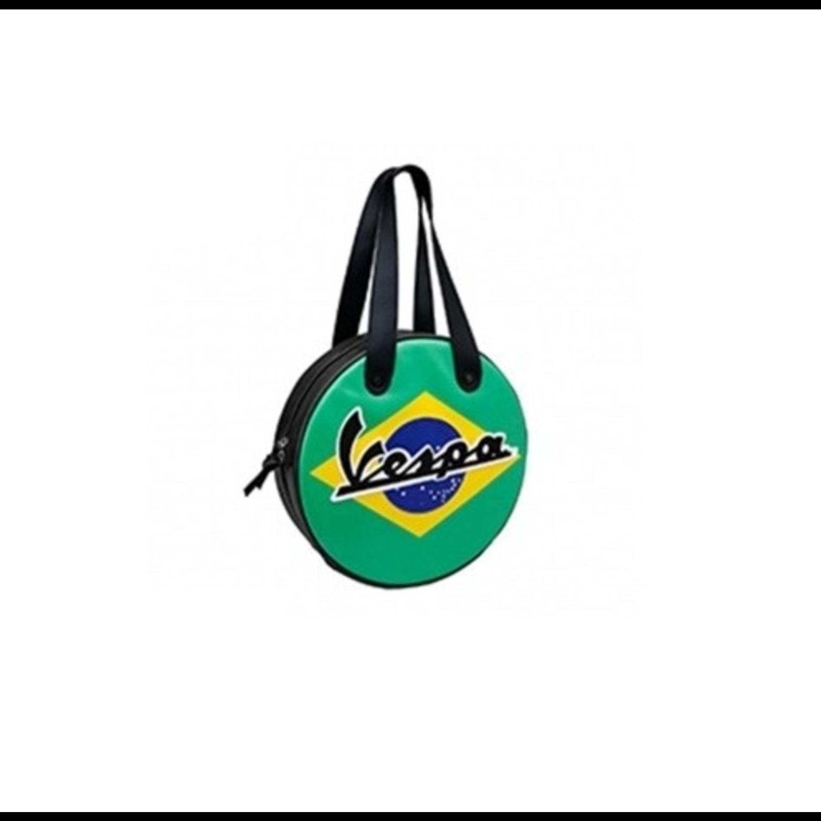 Lifestyle Shoulder Bag, Brazil Flag Wheel Shape