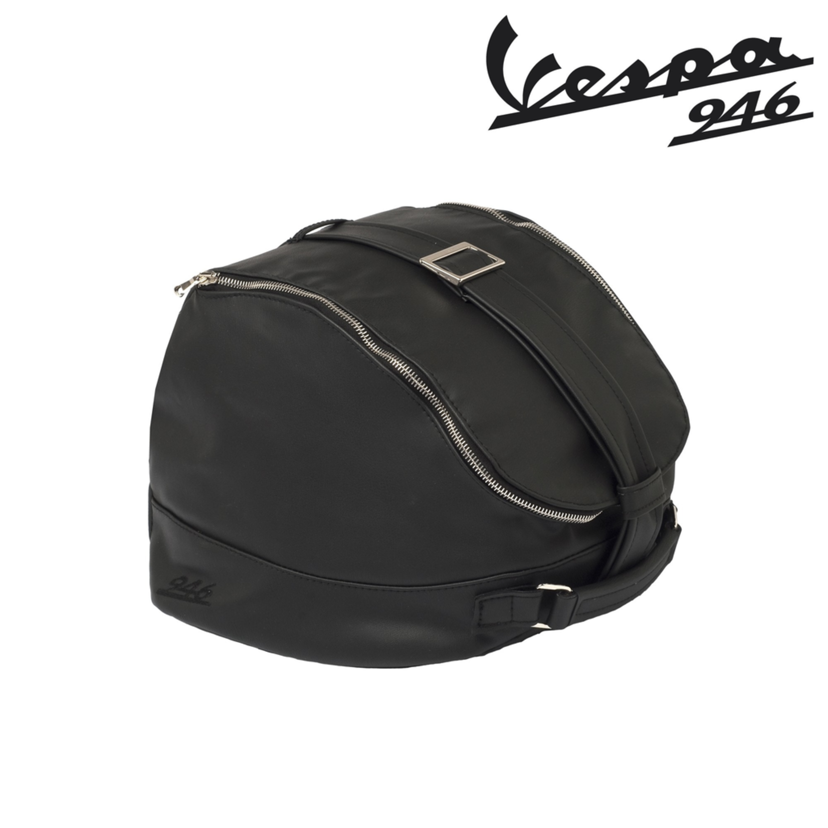 Accessories Helmet Bag, Vespa 946 Black Leather