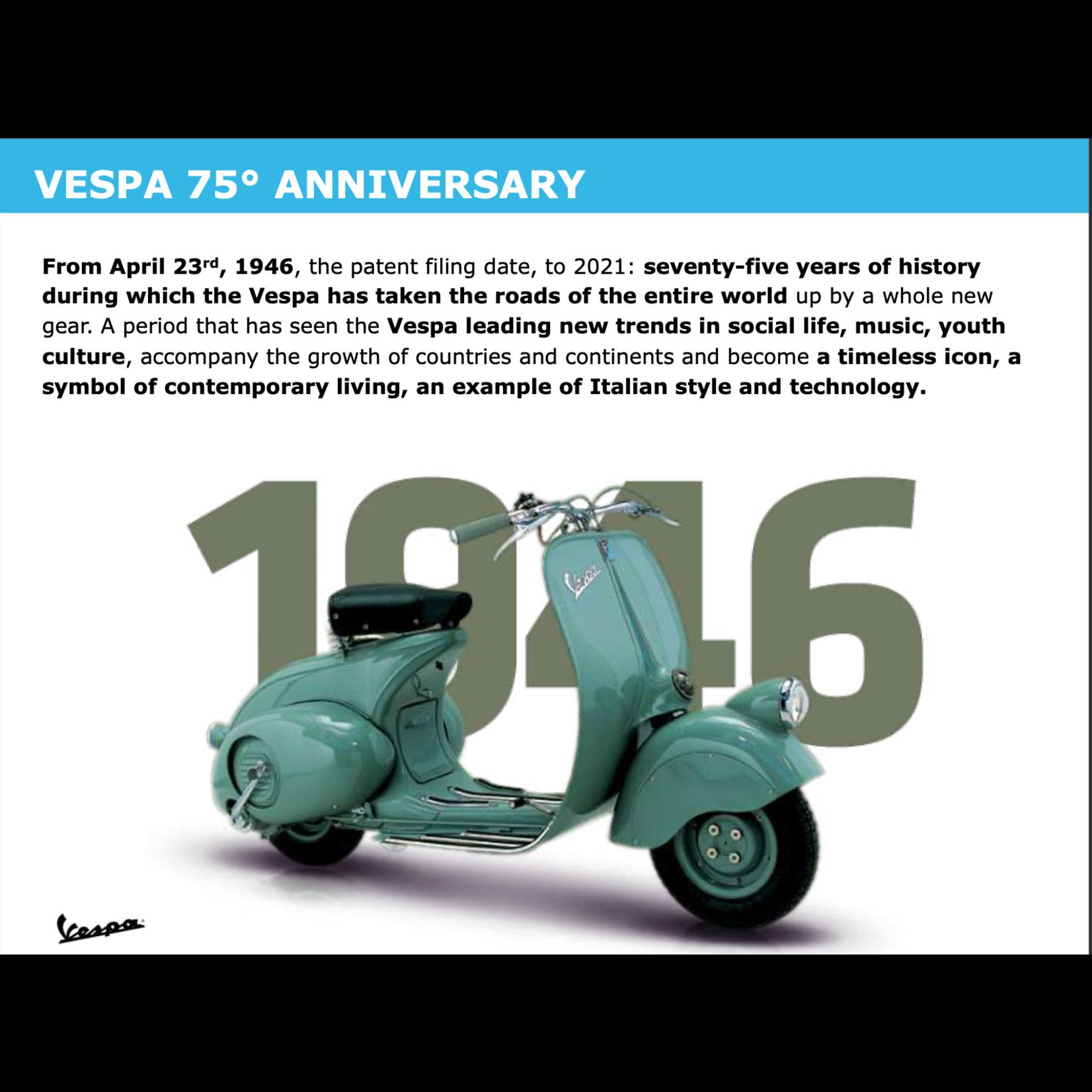 Vehicles Vespa, 2021 Primavera 150 75th Anniversary Celebration