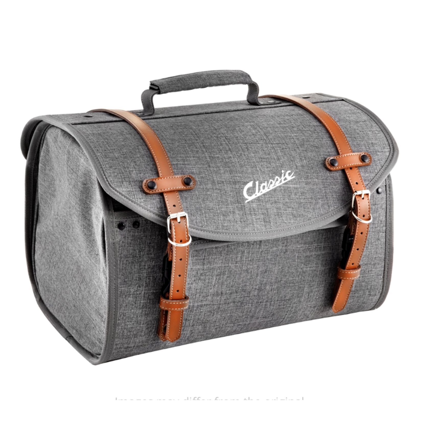 Accessories Top Case Bag, Grey Canvas/Brown 35ltr Classic