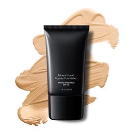Cream Beige Liquid Mineral Powder Foundation