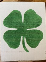 Rustic Marlin Four Leaf Clover Rustic Block