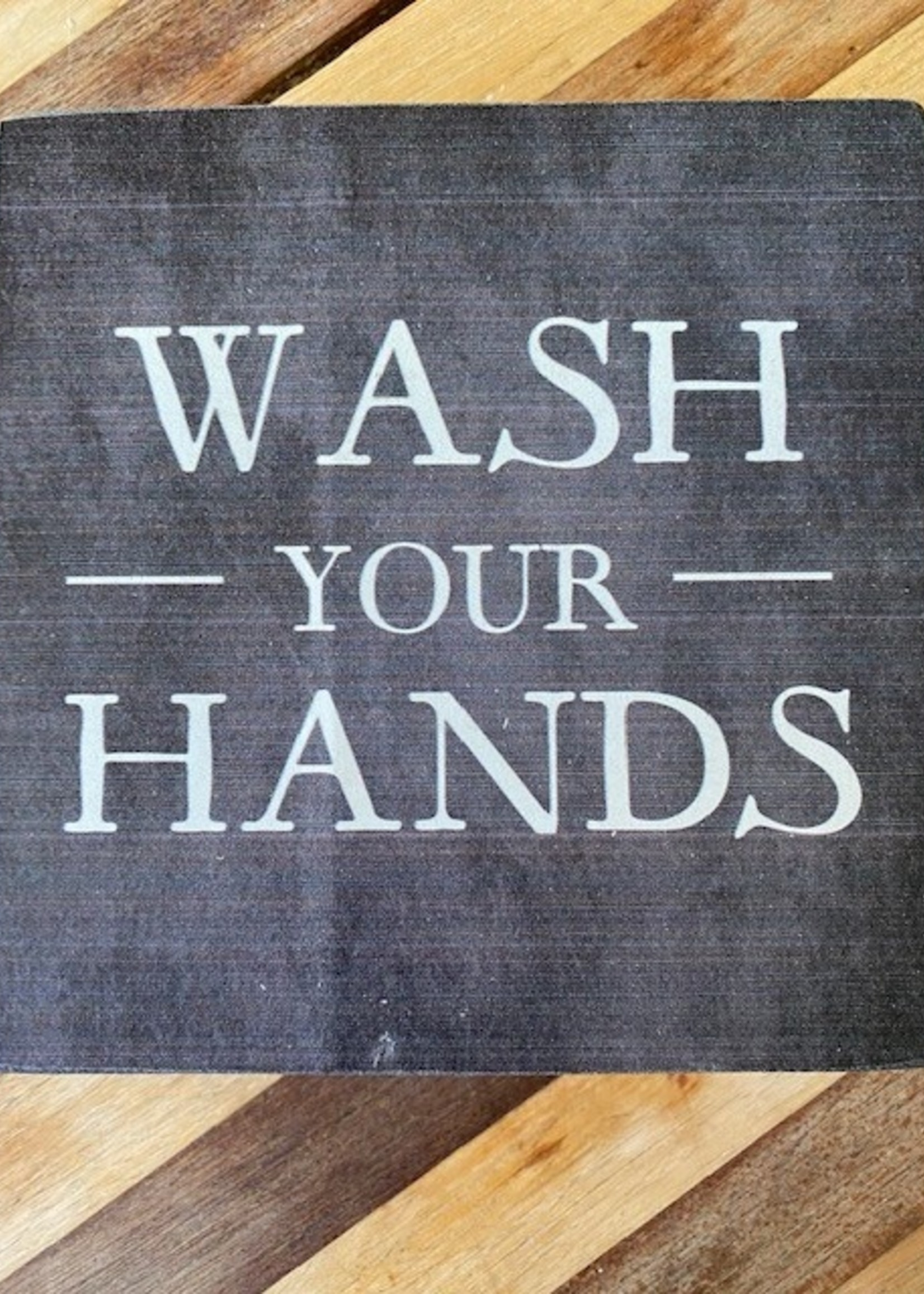 Rustic Marlin Wash Your Hands Rustic Block