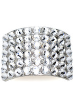 Pacelli Clear crystal rhinestone buckle Clear OneSize