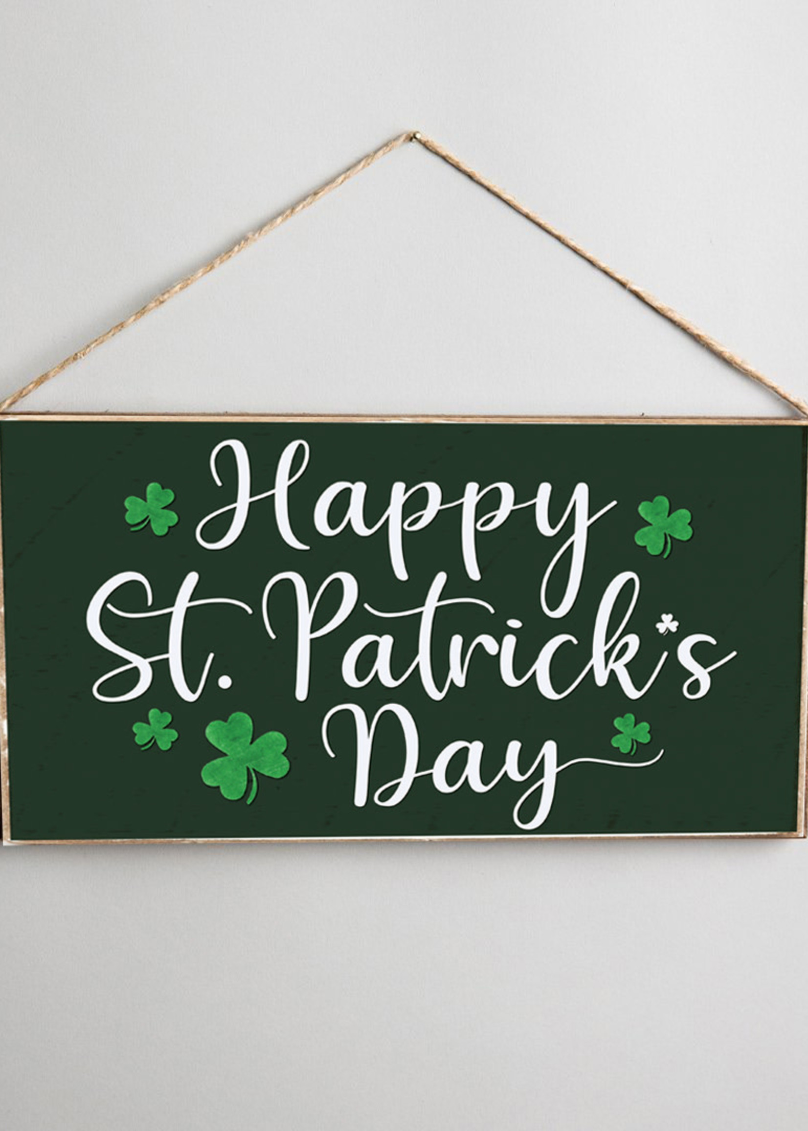 Rustic Marlin Happy St. Patrick's Day Hanging Sign