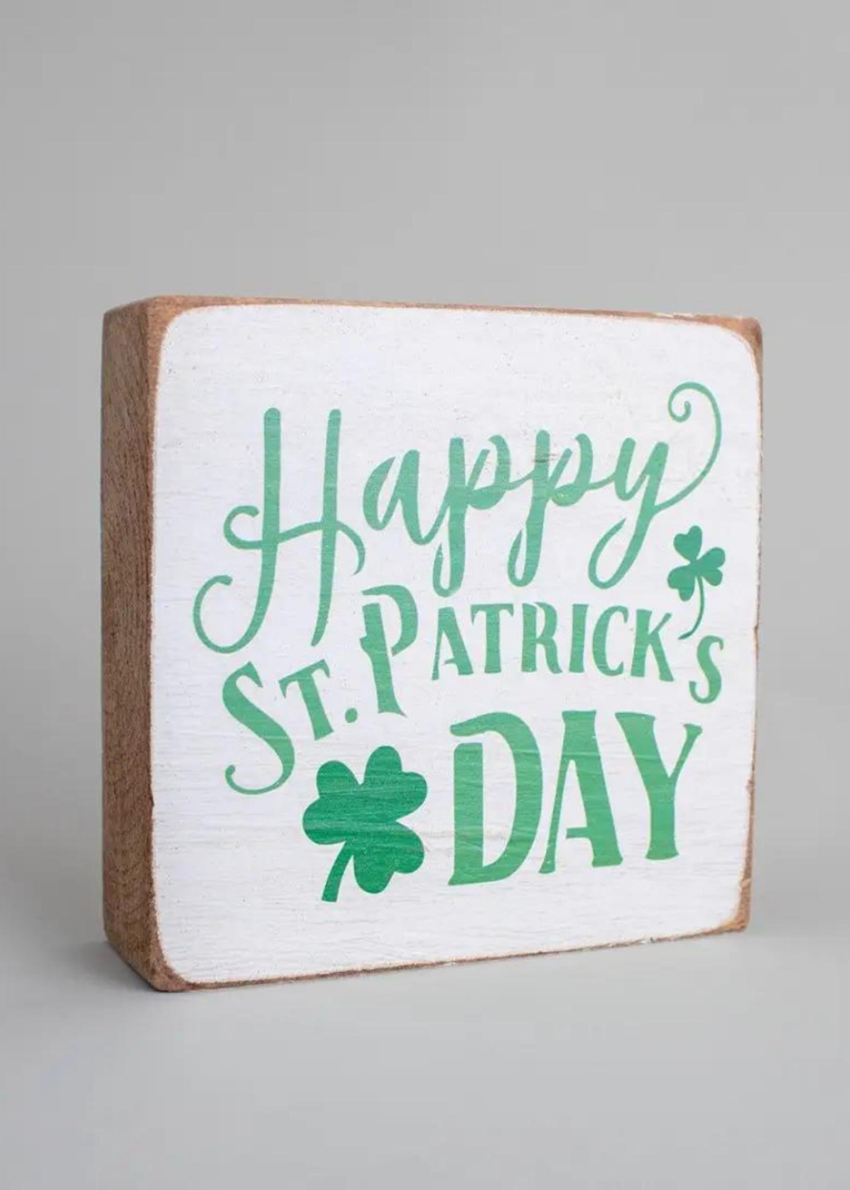 Rustic Marlin Happy St. Patrick's Day Decorative Wooden Block