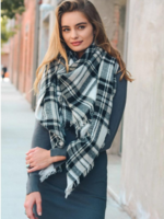 Leto Accessories Plaid Blanket Scarf (More Colors)