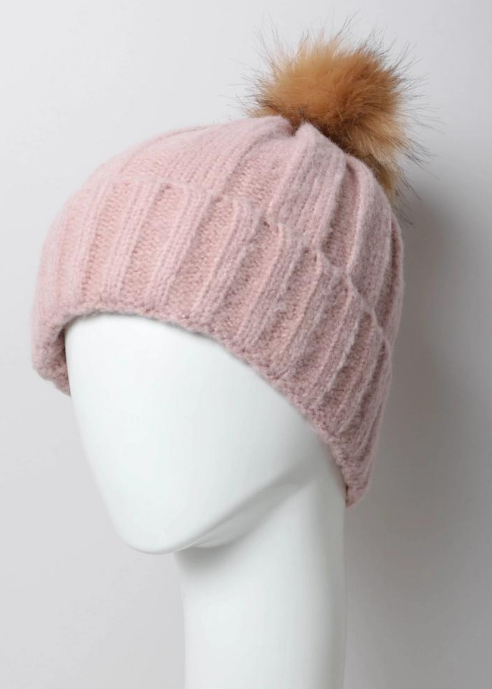 Leto Accessories Knit Pom Beanie Hat