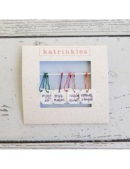 Katrinkles Katrinkles Write on/Wipe off Stitch Marker Set
